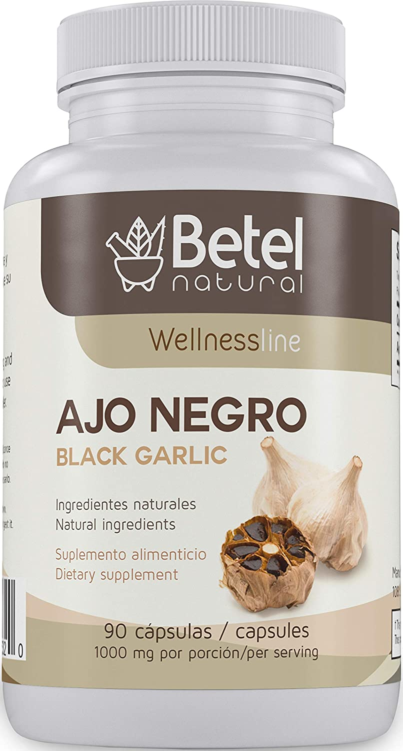 Ajo Negro Negro Garlic Cápsulas Por Betel Natural Potente Superfood Alto En Antioxidantes 1000 Mg Por Servir Health Personal Care