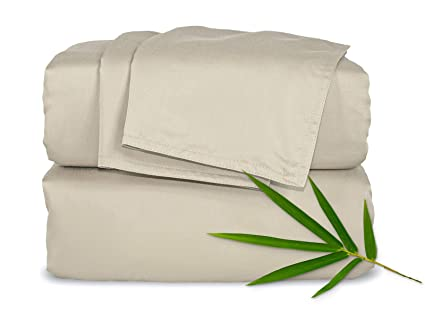 Amazon Com Pure Bamboo Sheets King 4pc Bed Sheet Set 100 Bamboo