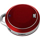 JBL Micro Wireless Ultra-Portable Speaker with Built-In Bass Port and Wireless Bluetooth Connectivity (Red)