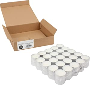 Stonebriar Unscented Tea Light Candles with 6-7 Hour Extended Burn Time, 50 Pack, White