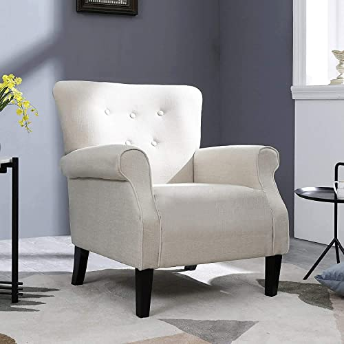 Festival Depot 1 Piece Indoor Modern Fabric Furniture Accent Arm Chair Single Sofa