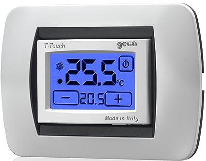 Termostato con pantalla a pilas T-Touch-GECA 35311653 antracita