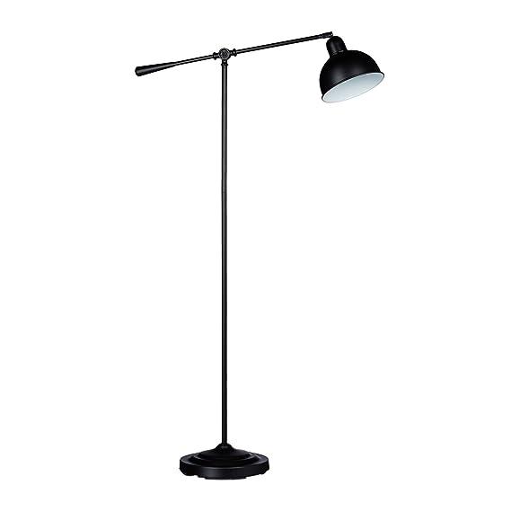 Relaxdays Lámpara de pie E27, Negro, 156 x 72 x 25 cm: Amazon.es: Iluminación