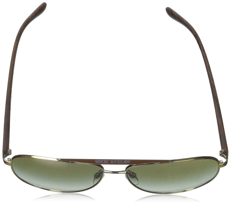 f32d44a991 Michael Kors HVAR MK5007 Sunglasses 10432L-59 - Gold Wood Frame Green  Gradient  Home  Amazon.com.au