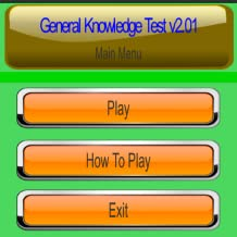 General Knowledge Test Game