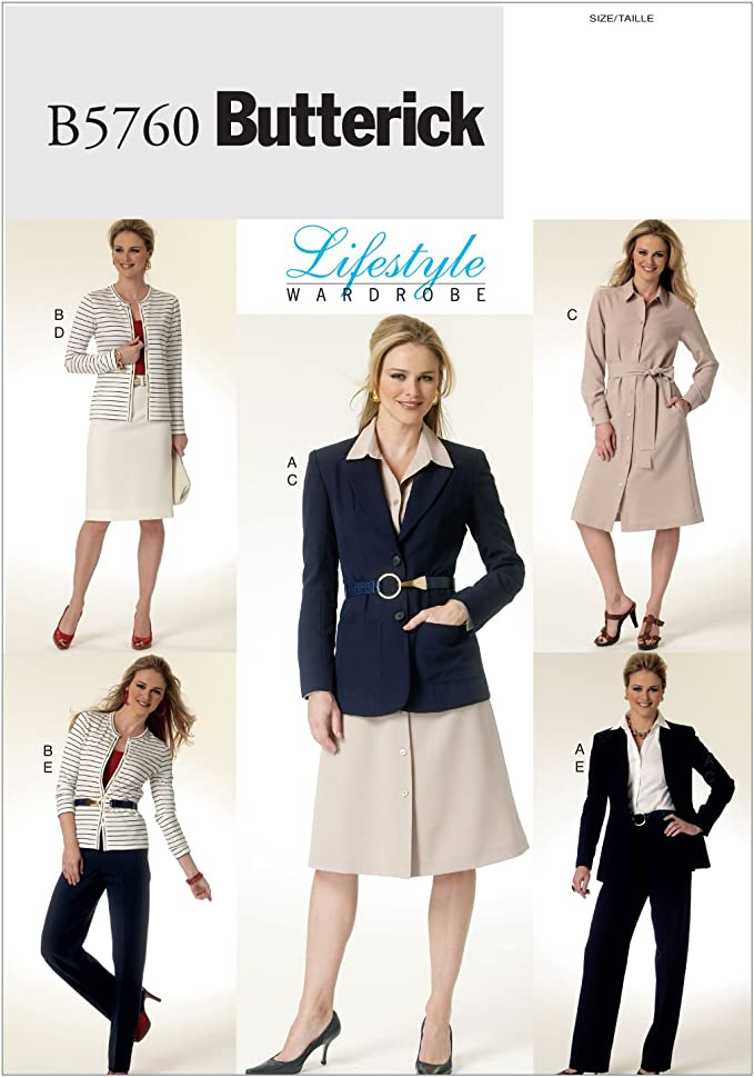 Butterick 6011 Misses/'//Miss Petite Cardigan,Top,Skirt 14,16,18  Sewing Pattern