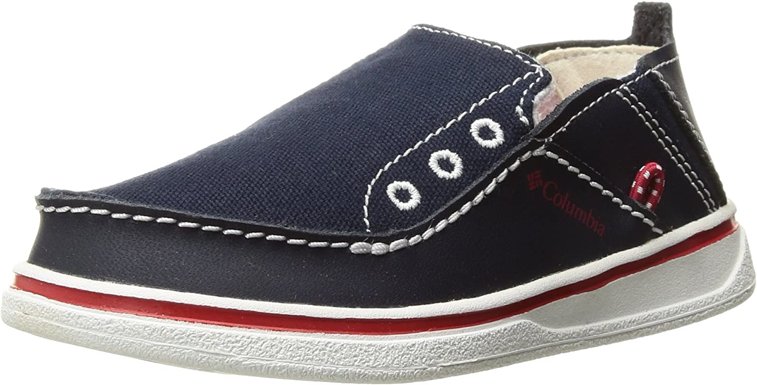 Columbia Unisex-Kids Youth Navy Blue and Red Bahama Loafer Size 1 OR 6 NEW