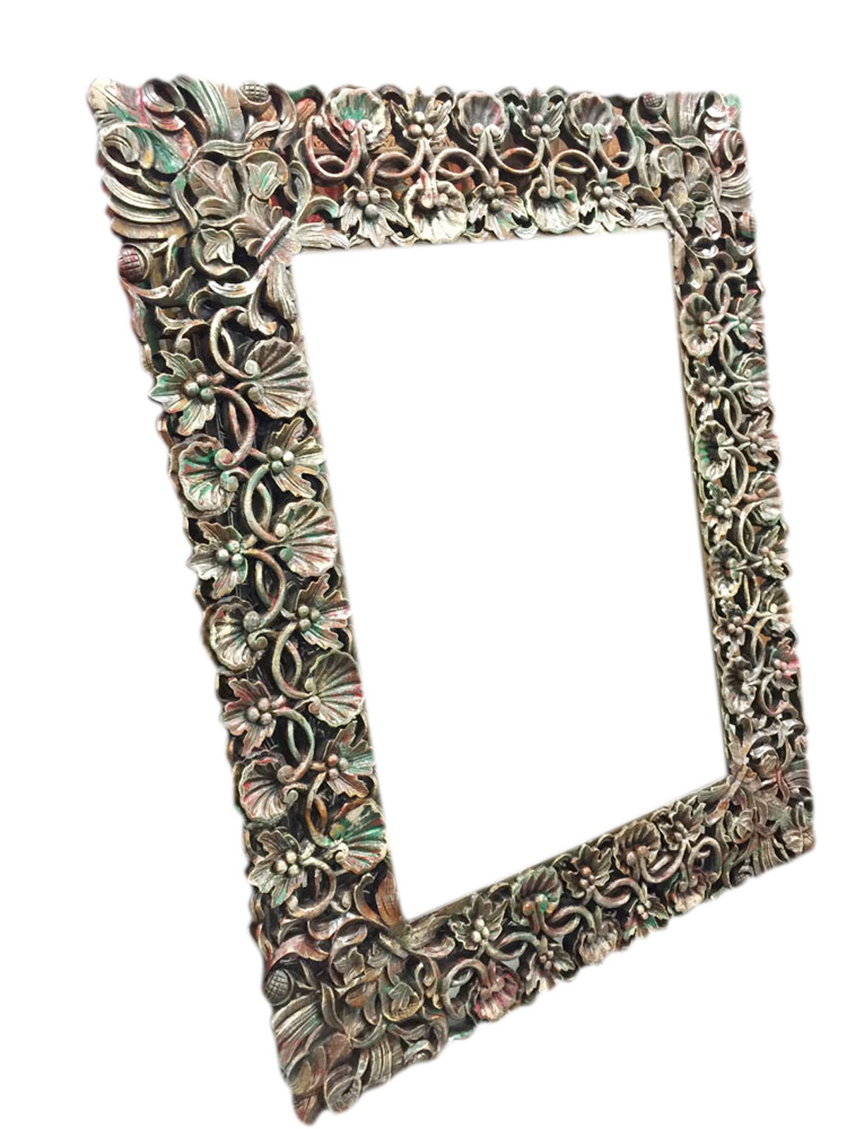 Antique miror Frame Hand Carved and Hand painted , Cherry Leaf Clusters, wall hanging Frame by Mogul Interior (Image #1)