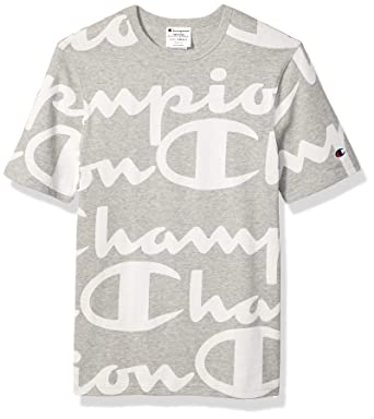 839de1ed058f Amazon.com: Champion LIFE Men's All-Over Script Logo Tee: Clothing