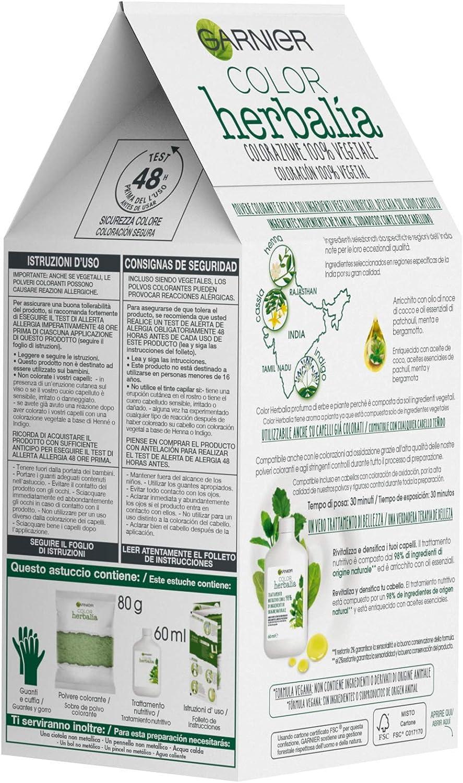 Garnier Herbalia Coloración 100% Vegetal - Castaño Caoba, disponible en 6 tonos