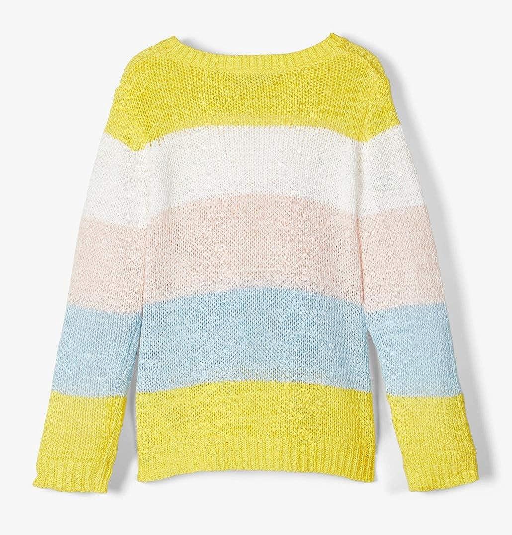 Name It Nkffanaria LS Knit Box Maglione Bambina