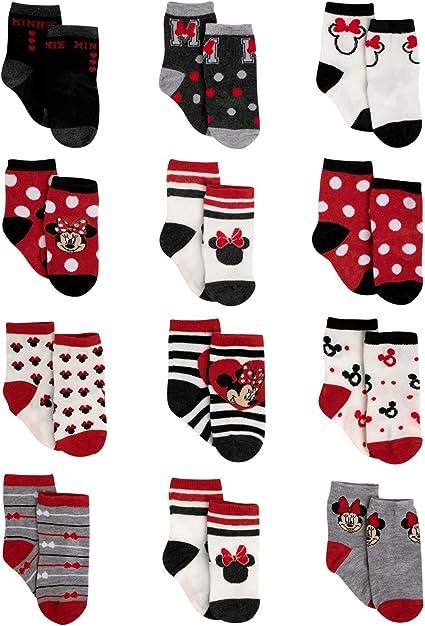 Minnie Mouse Mini Maus Set 5 Paar Kinder Mädchen Socken Strümpfe
