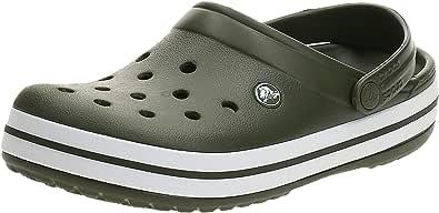 Crocs Unisex Adults Crocband Clog, Army Green/White, M13