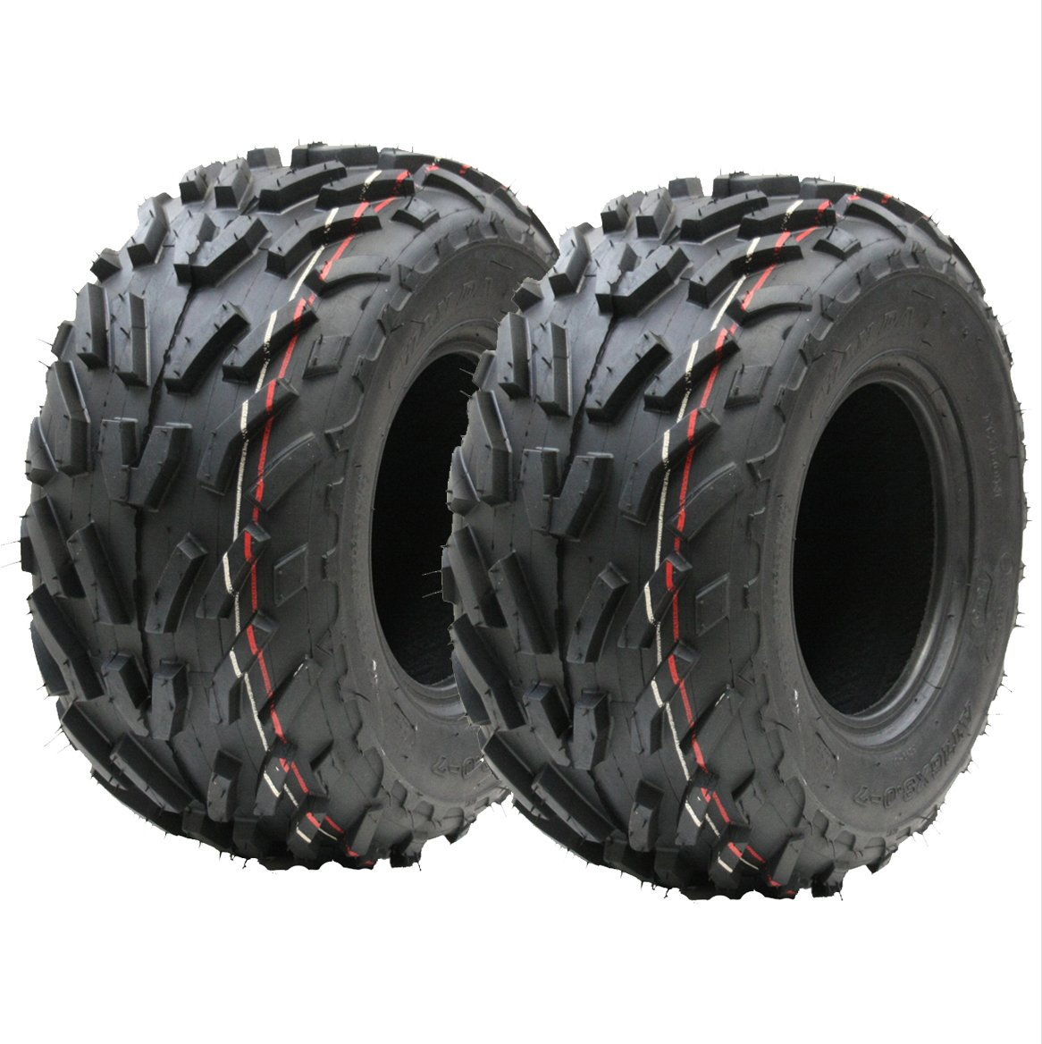 Two (pair) 16x8.00-7 quad tyres, 16 x 8-7 ATV E marked road legal tyre 7 inch Wanda
