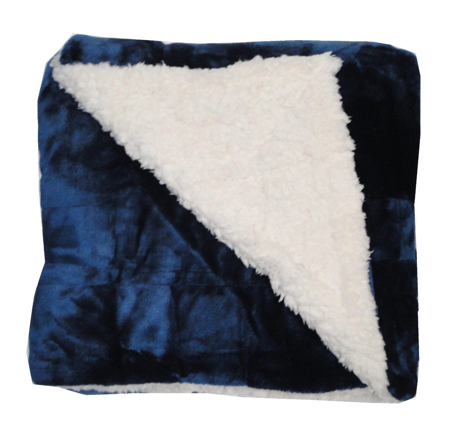 Ultimate Sherpa Throw Blanket 60 x 70, Blue