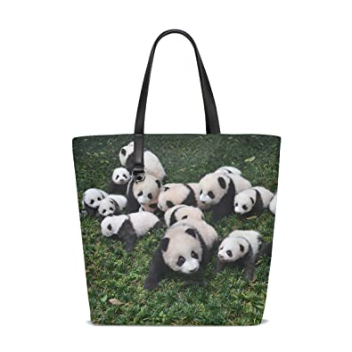 18aceface6e2 Amazon.com  Animal Panda Adorable Fluffy Small Fluffy Cute Tote Bag Purse  Handbag For Women Girls  Shoes