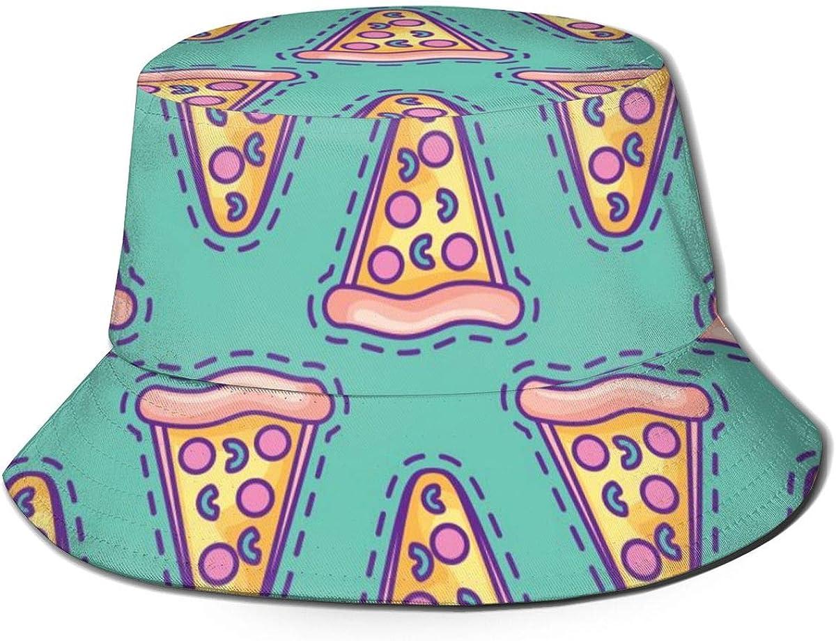 Lanbay Flat Top Breathable Bucket Hats Unisex Dog Breed Pug Bucket Hat Summer Fisherman's Hat
