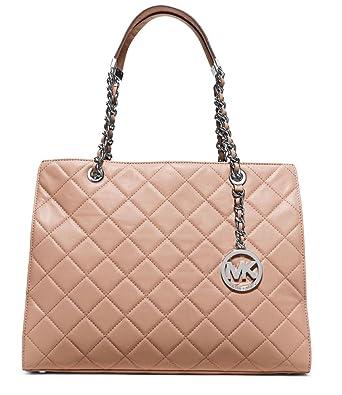 ccd5718f5308 Amazon.com: Michael Kors Susannah Large Blush Leather Tote: Clothing