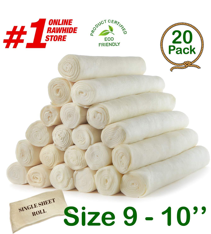 Retriever roll 9-10'' (20 Pack) Extra Thick Cow Dog Chews️