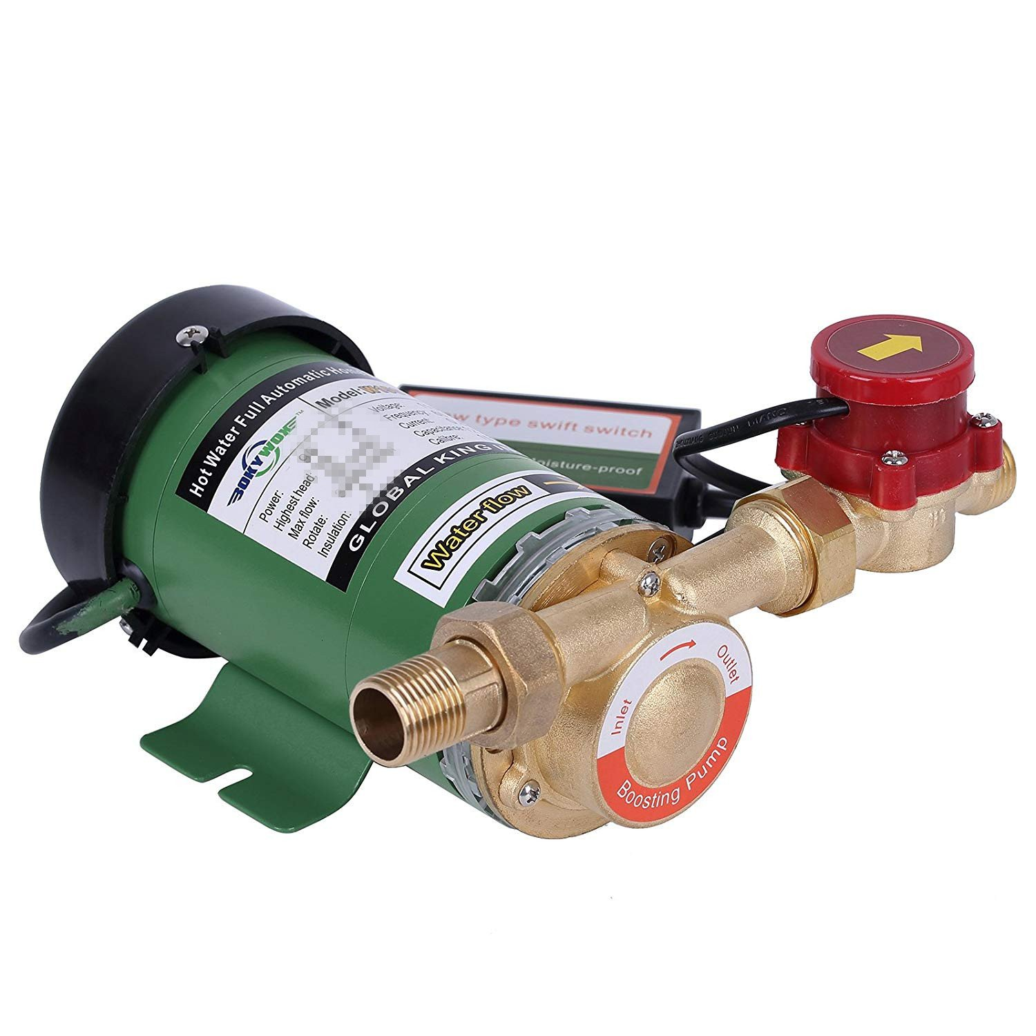BOKYWOX 220V 90W Water Pressure Booster Pump Booster Water Pump for Home Shower/Washing Machine. (W15GR-10) BOKYWOX®