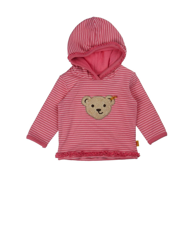 M/ädchen Kapuzenpullover Sweatshirt 1//1 Arm 6513143 Steiff Baby