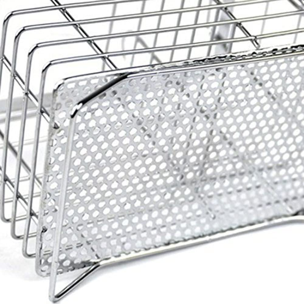 para colgar en la pared cesta 2 compartimentos malla para palillos//cuchara//tenedor//cuchillo Swallowzy Escurridor para cuberter/ía acero inoxidable