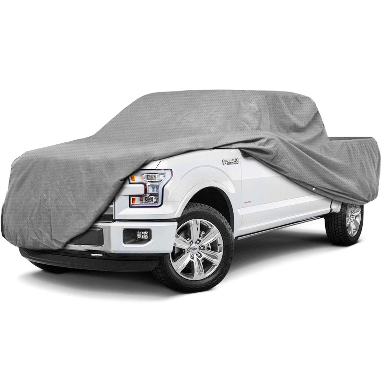 Fits Pickup Trucks with Extended Cab Superior Pickup Truck Cover 249 x 70 x 60 Gray Color Standard Bed up to 20 9 Length Waterproof All Weather Covers Breathable Outdoor Indoor