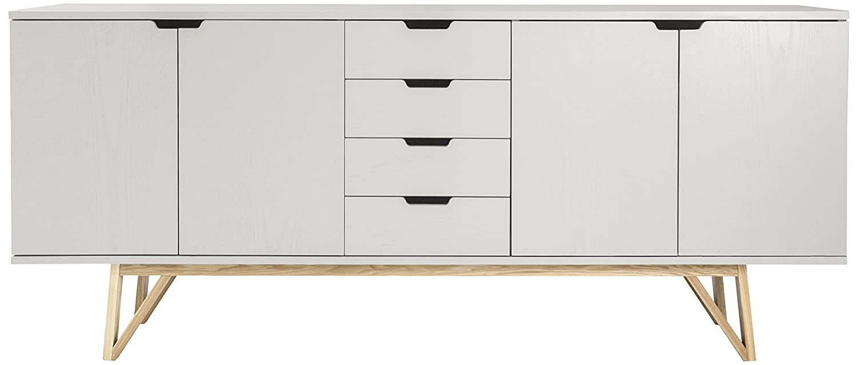Tenzo 6978-912 CROSS - Designer Sideboard, 85 x 198 x 45 cm, grau gebeizt