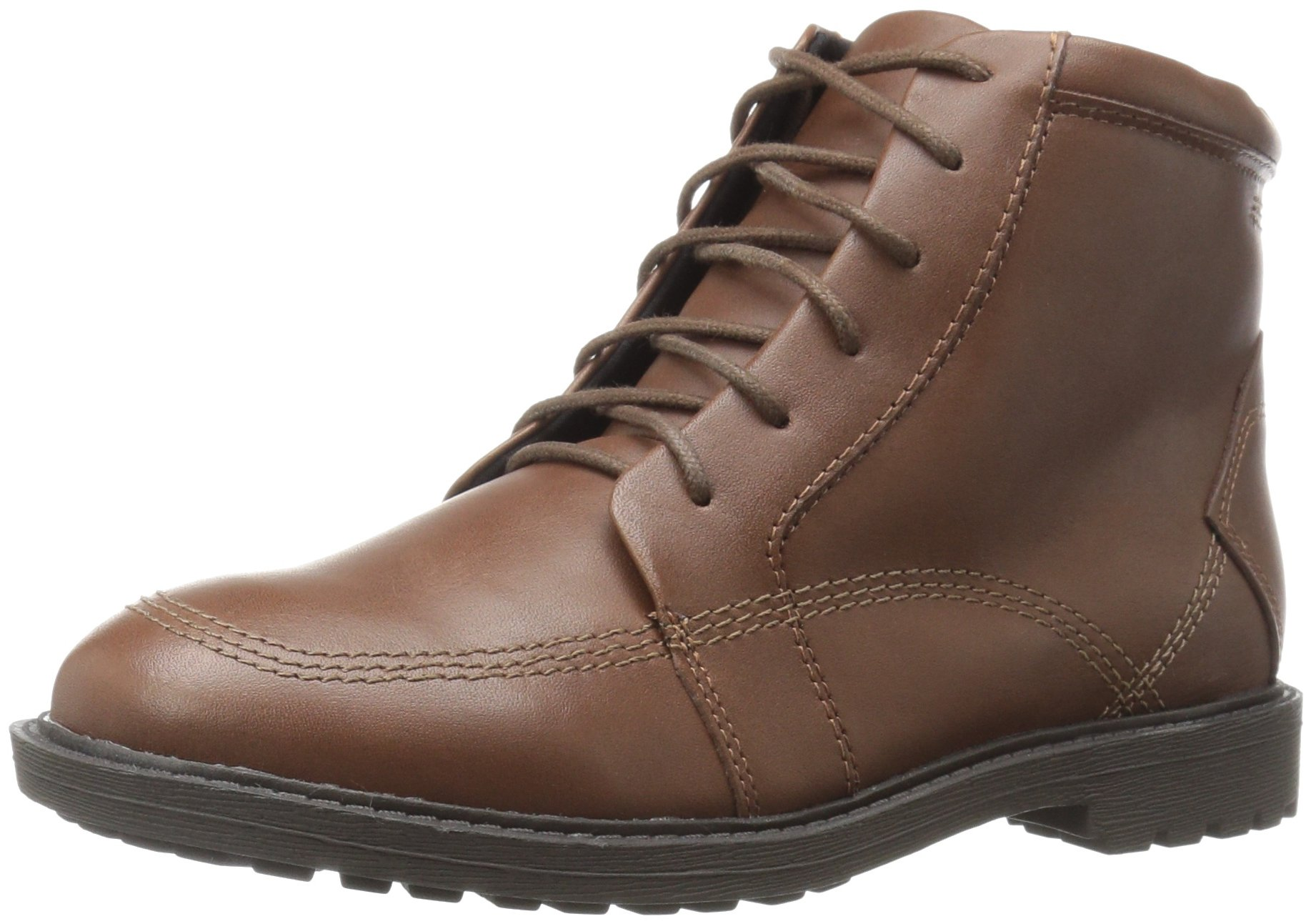 Kenneth Cole REACTION Boys' Strada Boot-K Bootie, Brown, 2 M US Little Kid