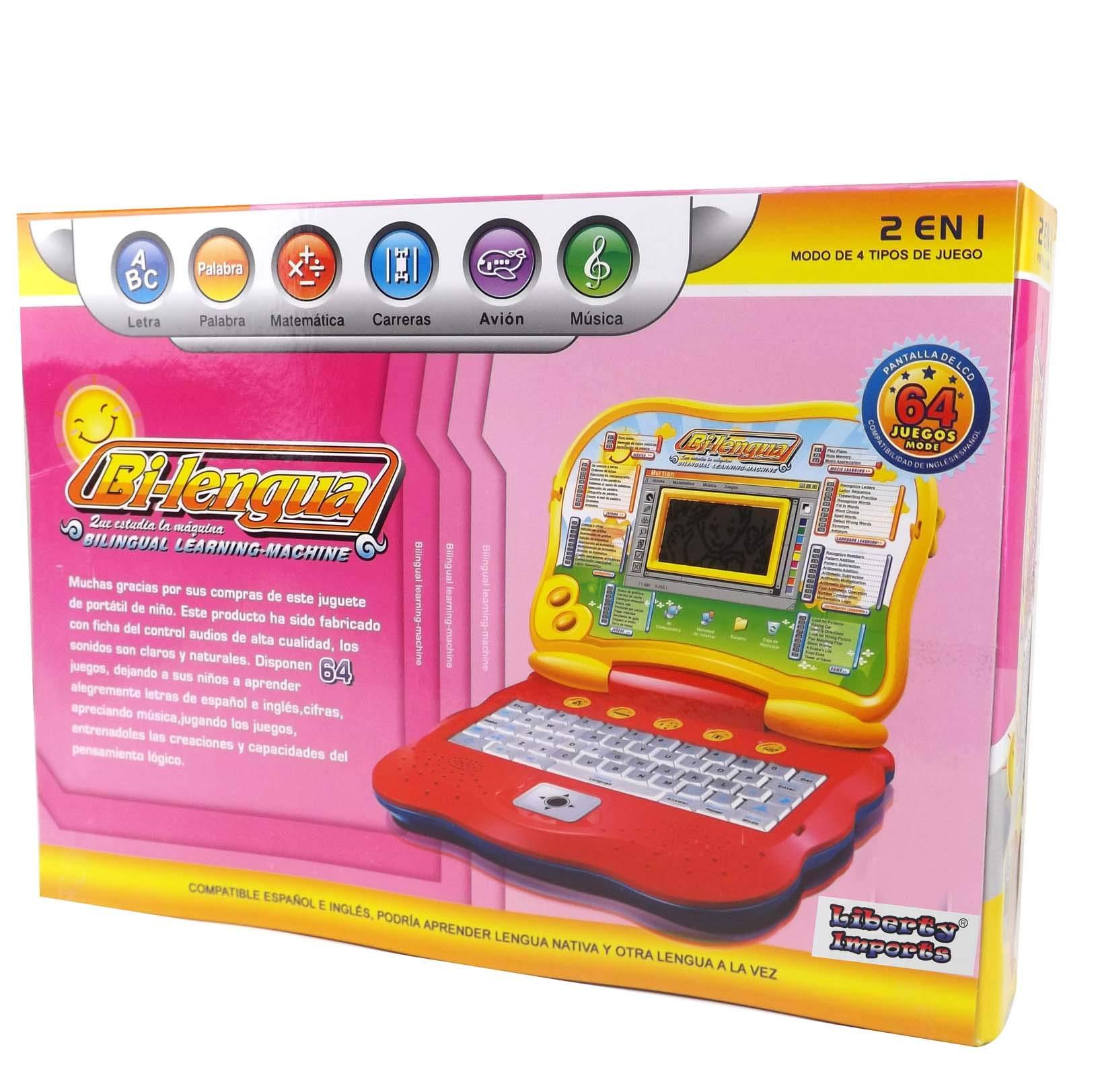 Liberty Imports Bilingual Advanced Learning Children Laptop - English and Spanish (Pink) by Liberty Imports (Image #5)