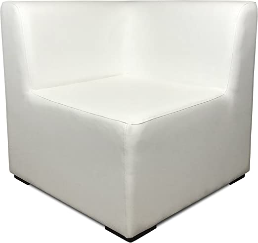 SUENOSZZZ-ESPECIALISTAS DEL DESCANSO Sofa Exterior Modular Benahavis rinconera Color Blanco tapizado en Polipiel Silva. Chill out Jardin o recepcion.: Amazon.es: Hogar