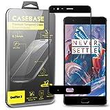 CaseBase® Full Cover - Pellicola Protettiva per Display in Vetro Temperato - Confezione doppia per Oneplus 3 ** Doppio Vetro ** 2 in 1 (Nero)