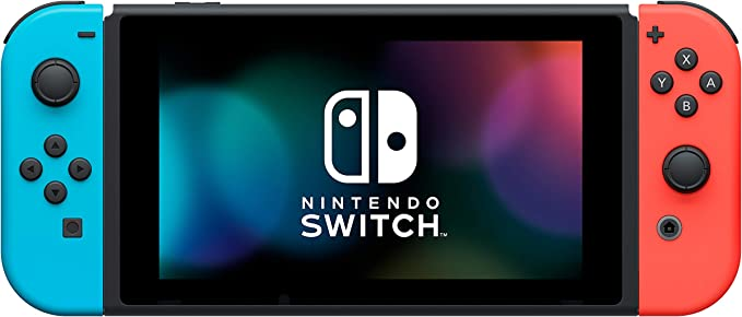 Amazon.com: Nintendo Switch with Neon Blue and Neon Red Joy ...