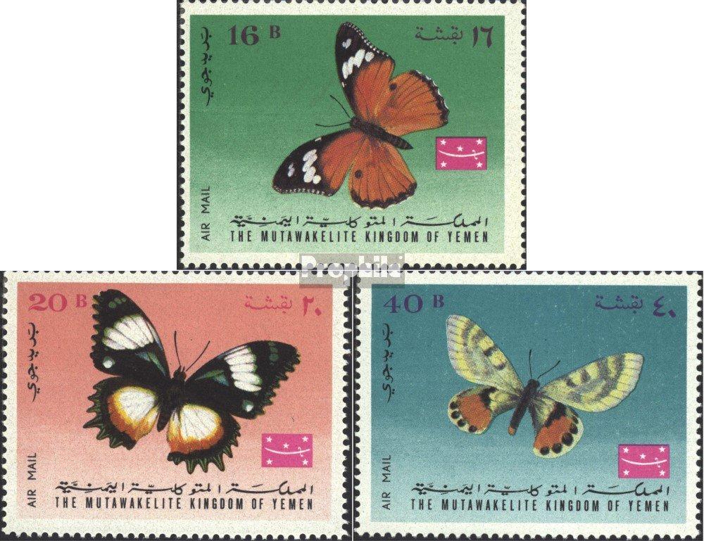 Reino Prophila sellos para coleccionistas: Yemen nuevo con goma original 1968 Mariposas completa.edici/ón. 448A-450A