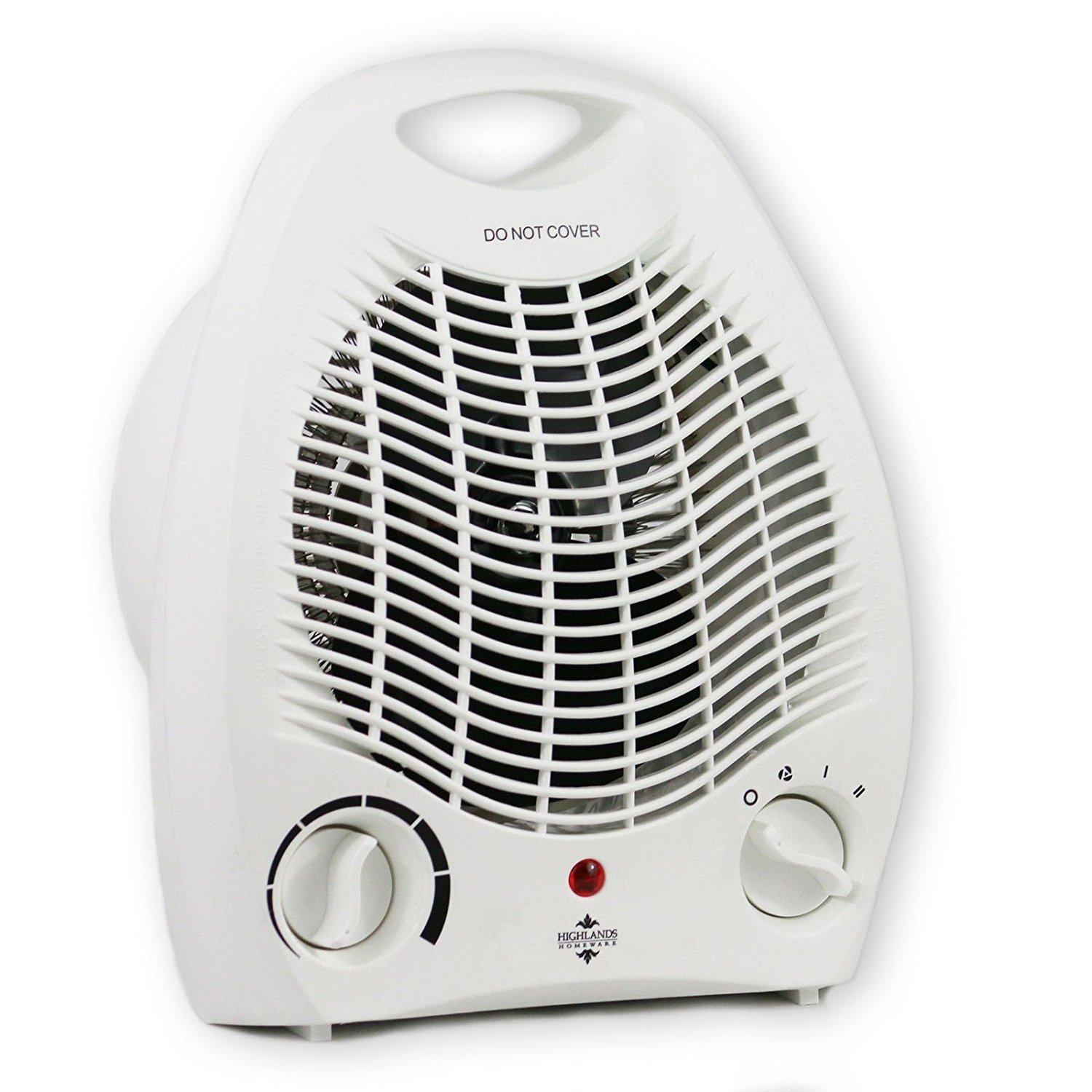 Highlands #HEA03 Portable Fan Heater, 2000 W, White, 220-240V AC 50Hz