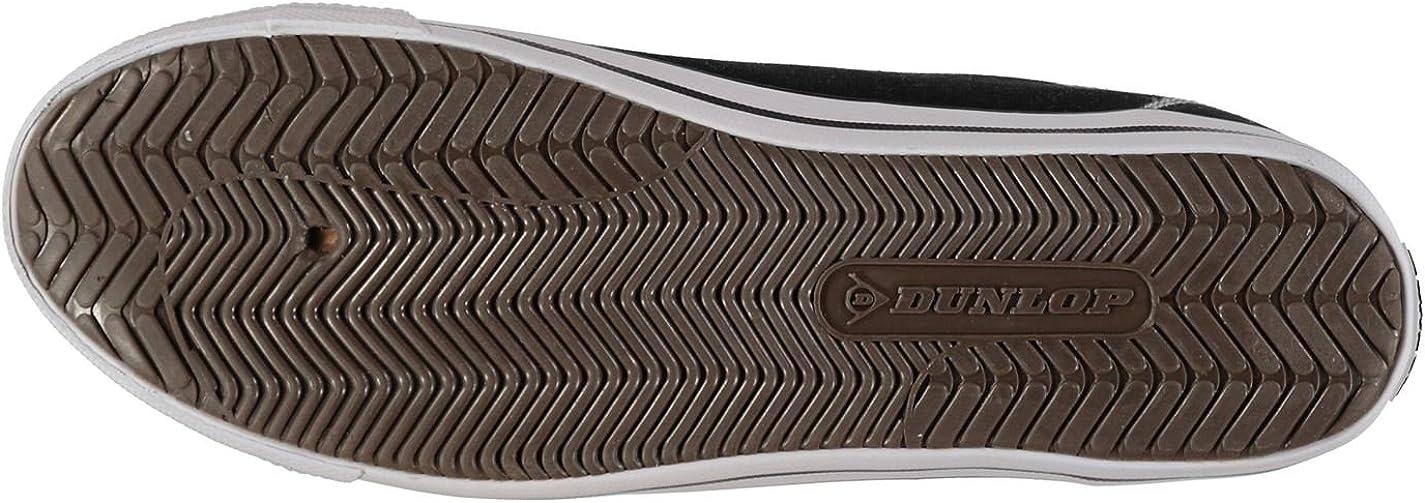 Dunlop Herren Canvas Lo Profile Pumps Lace Up Freizeit Schuhe Extra Leicht Schwarz 0kbvB MZYAq