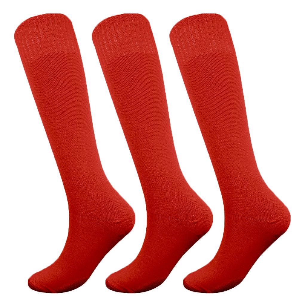 Fitliva Tube Dresses Thick Athletic Ankle Adult Womens Mens Full of Sport Passion Socks (3Pack-Red) by Fitliva