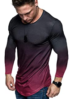 Men/'s Workout Casual Gym Running T-shirt Tight fit Solid color Lightweight Top