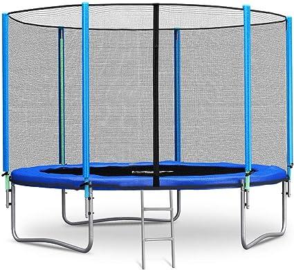 Kindertrampolin Gartentrampolin GS Zertifiziert DuraB Trampolin mit Sicherheitsnetz und Leitersprungmatte /Ø 183//244//305 cm