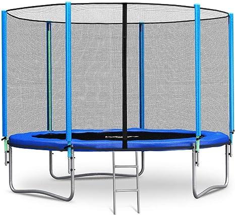 Neo Sport Trampolin 305 Cm 10 Ft Mit Sicherheitsnetz Aussennetz Und Einstiegsleiter Gartentrampolin Amazon De Sport Freizeit