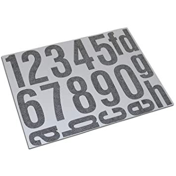 Hausnummern Aufkleber Folien Set Nummern Und Buchstaben Zum Aufkleben Reflektierend Oder Matt Schwarz Reflex