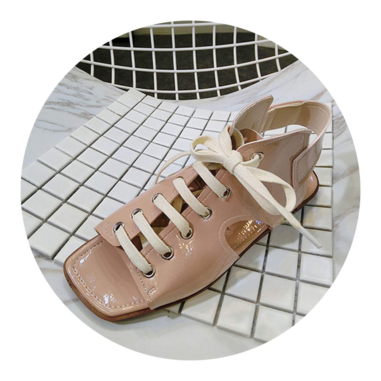 hommes / femmes femmes femmes gladiateur chaussures sandale à dentelle rose femmes occasionnel de cuir beige d'excellente qualité convenant à bout ouvert bw9333 achat couleur e76ab1