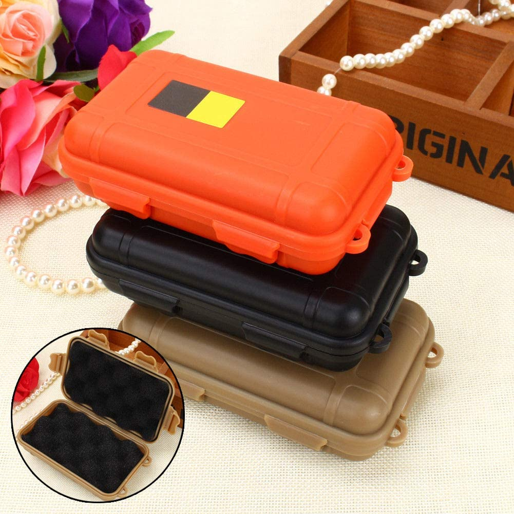 Yosoo Health Gear Outdoor Shockproof Waterproof Storage Box Survival Storage Case Outdoor Waterproof Airtight Container Fishing Carry Box for Fishing Camping Hiking Outdoor Activities