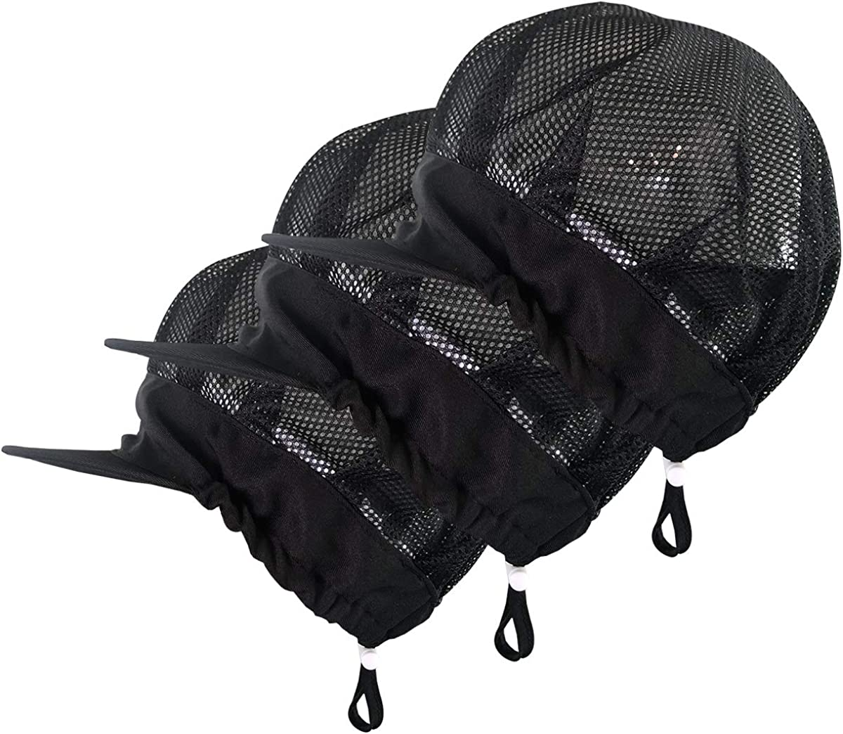 Adjustable Chef Cap Cooking Kitchen Hat Food Service Hair Nets Mesh Brim Reusable Restaurant Vent Beanie