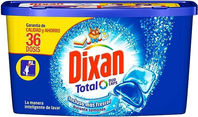Dixan Detergente Total Duo Caps en Cápsulas - 36 Lavados: Amazon ...