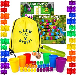 Counting Bears for Toddlers - Preschool Activities for Counting, Sorting, and Stacking - Stem Educational Toys – Learn to Add and Subtract for Boys & Girls Aged 3+