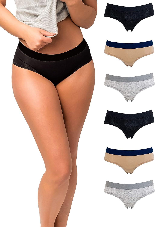 Emprella Panties for Women, Womens Hipster Underwear Pack Soft Cotton Ladies Panty
