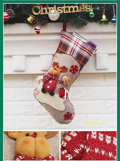 socking Candy bolsas de regalo de Navidad, Año Nuevo Decoraciones de bolsa de regalo,