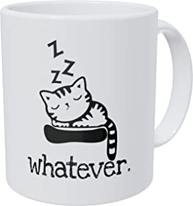Wampumtuk Whatever Sleeping Cat 11 Ounces Funny Coffee Mug