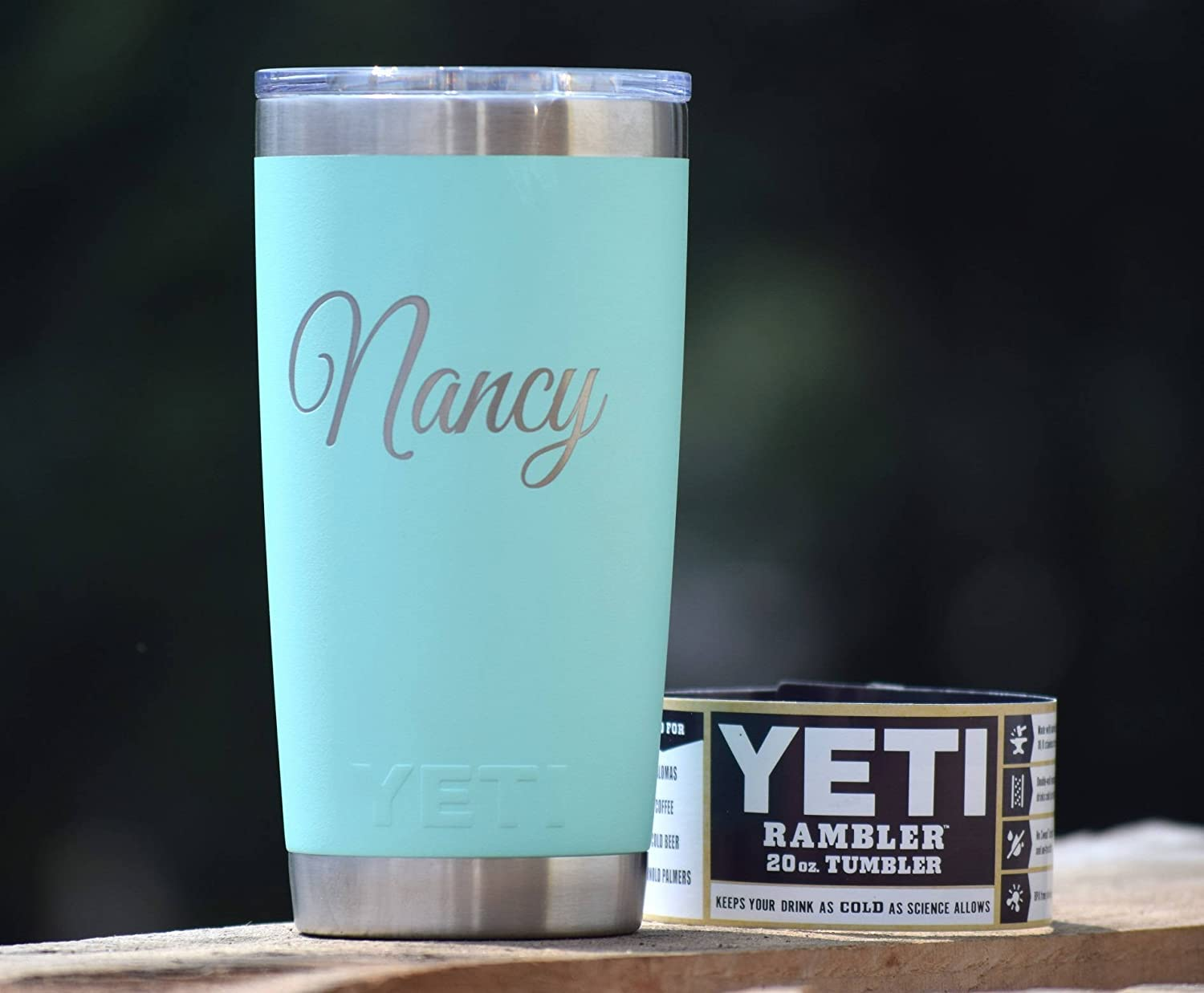 Amazon Com Personalized Tumbler Engraved Yeti Rambler 20 Oz